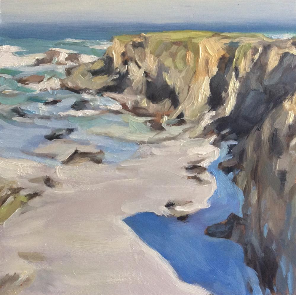 """Cliff Top"" original fine art by Paula Howson-Green"