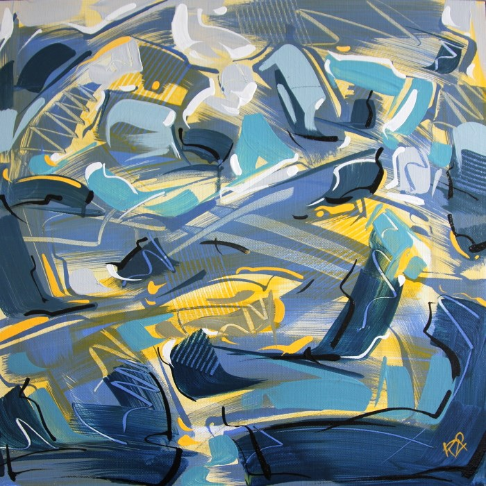 """""""Shapes & Movement 93"""" original fine art by Roger Akesson"""