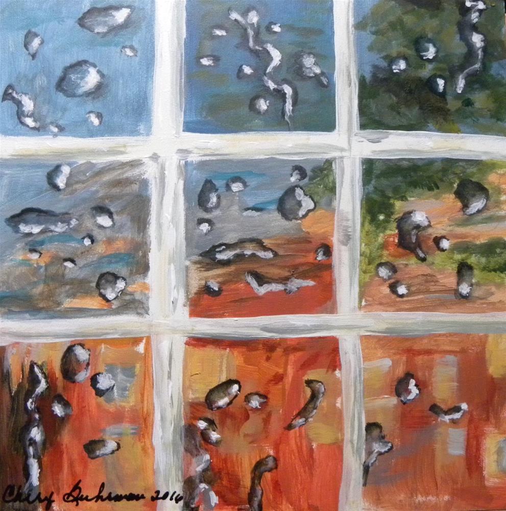 """Rainy Day on Adams Street"" original fine art by cheryl buhrman"
