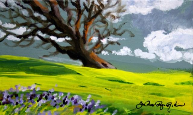 """""""Grey Skies"""" original fine art by JoAnne Perez Robinson"""