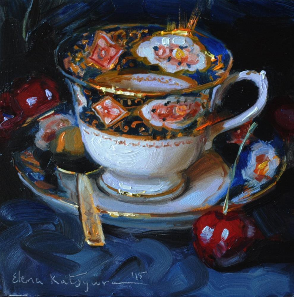 """Blue Velvet"" original fine art by Elena Katsyura"