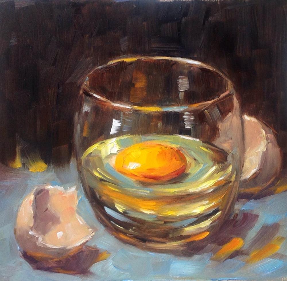 """Broken egg"" original fine art by Irina Beskina"