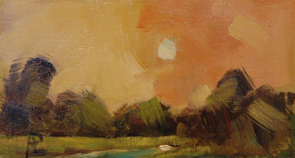 """""""Pink and Yellow Sky"""" original fine art by Andre Pallat"""