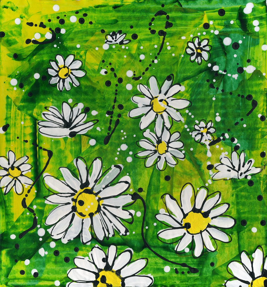 """Daisy, daisy"" original fine art by Kali Parsons"