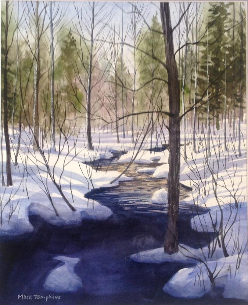 """Sierra Snow"" original fine art by Mark Tompkins"