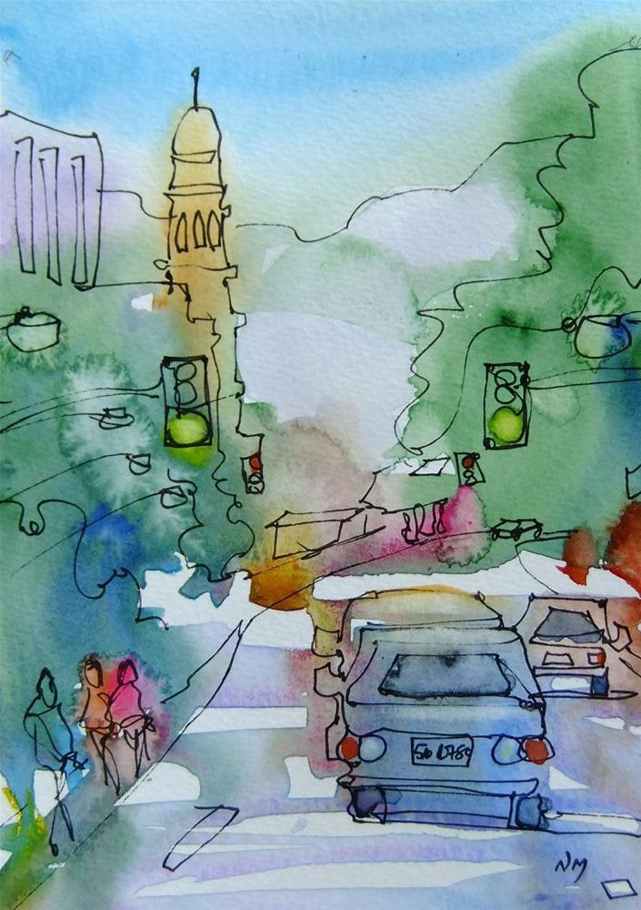 """follow me home"" original fine art by Nora MacPhail"
