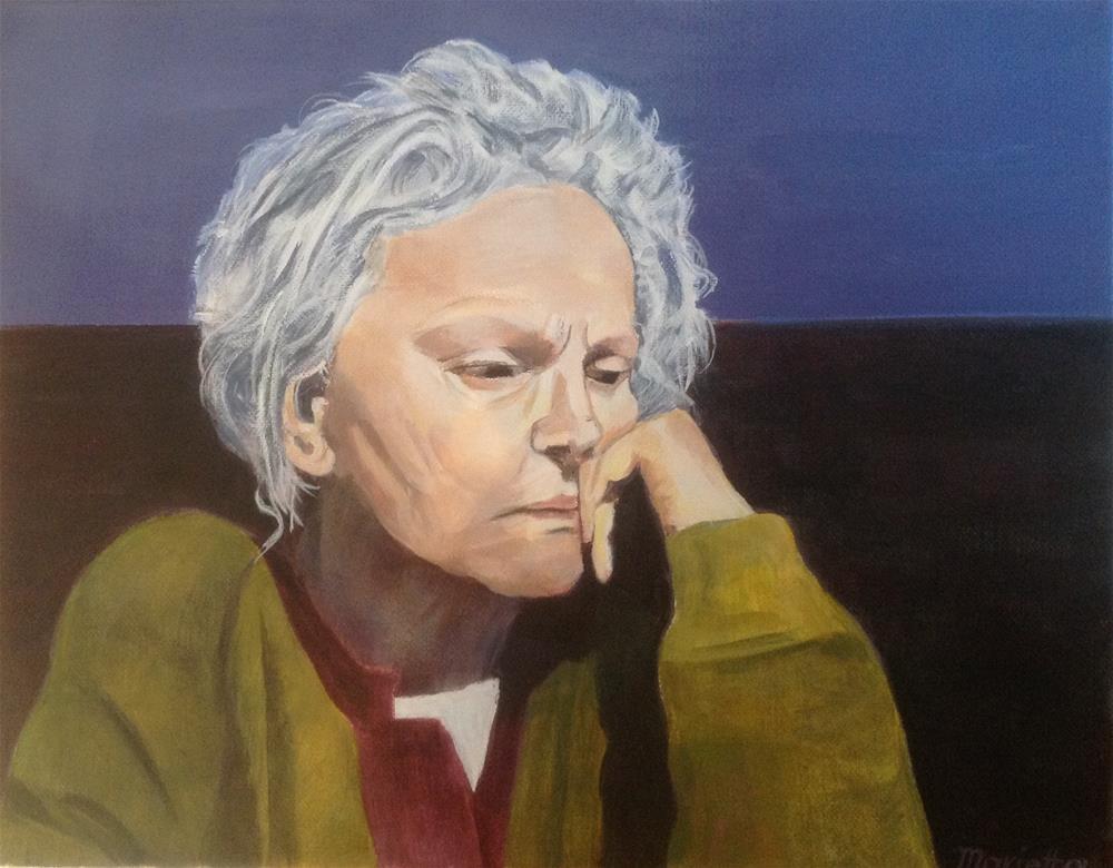 """ Sadness "" original fine art by Marietta Modl"