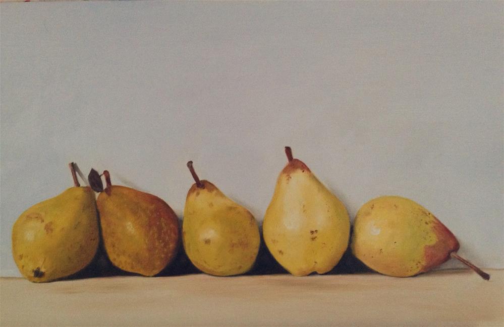 """Five Pears"" original fine art by James Coates"