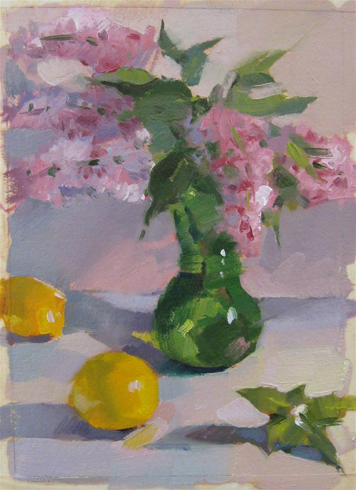 """Lilacs in Green - A Fundraiser for Okla Tornado Victims"" original fine art by Sarah Sedwick"