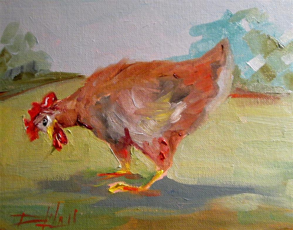 """Looking for Lunch"" original fine art by Delilah Smith"