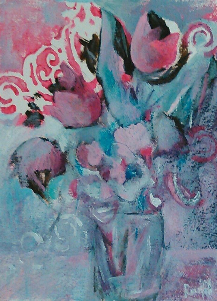 """""""Cascade"""" original fine art by Ann Rudd"""
