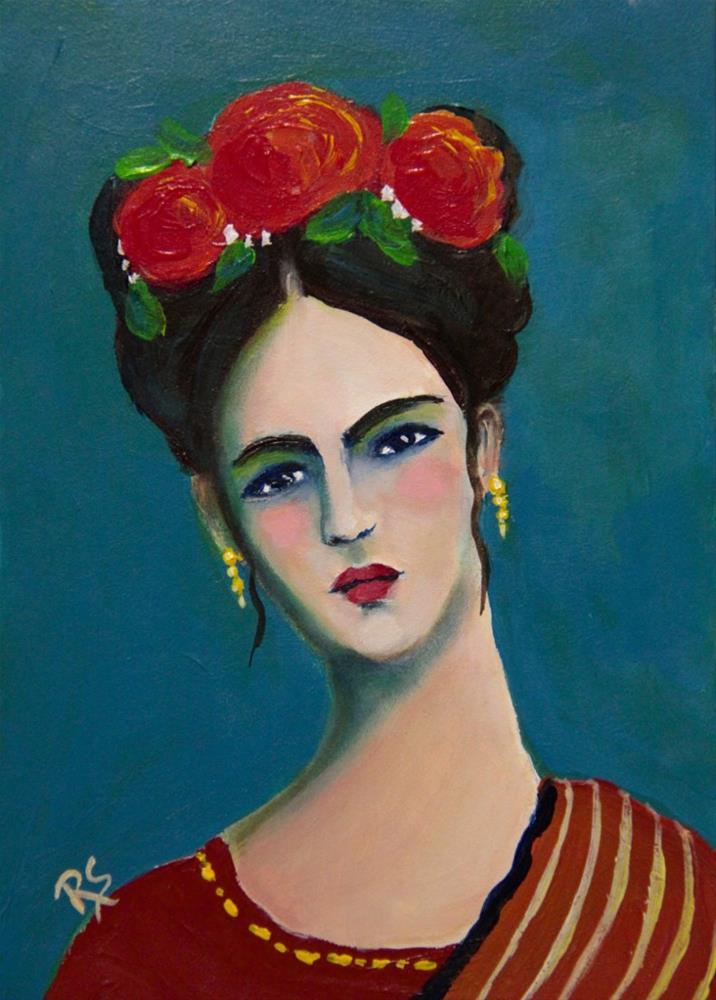 """Reslience - A Frida Kahlo Inspired Painting"" original fine art by Roberta Schmidt"