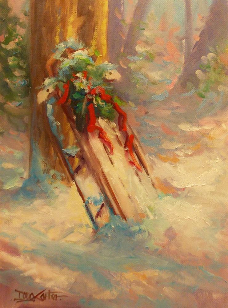 """"""" A Christmas Sleigh """" original fine art by Doug Carter"""
