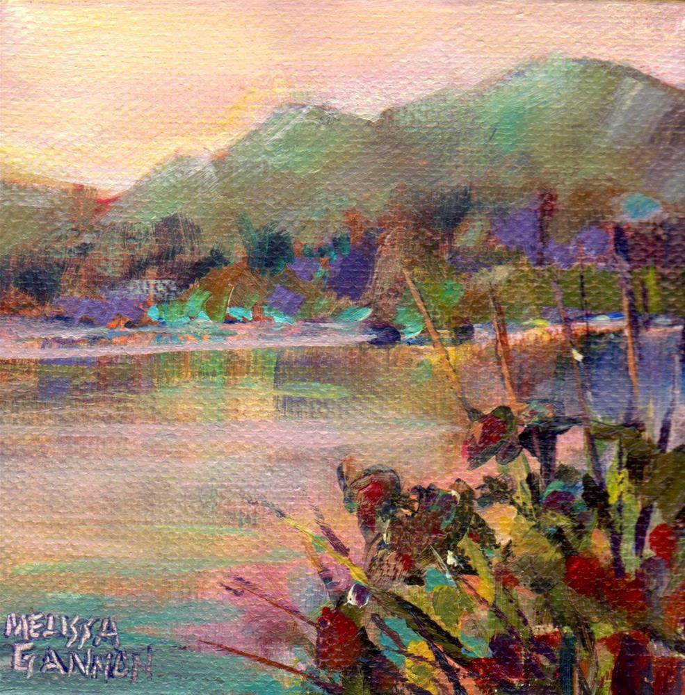 """Peace Along the River"" original fine art by Melissa Gannon"