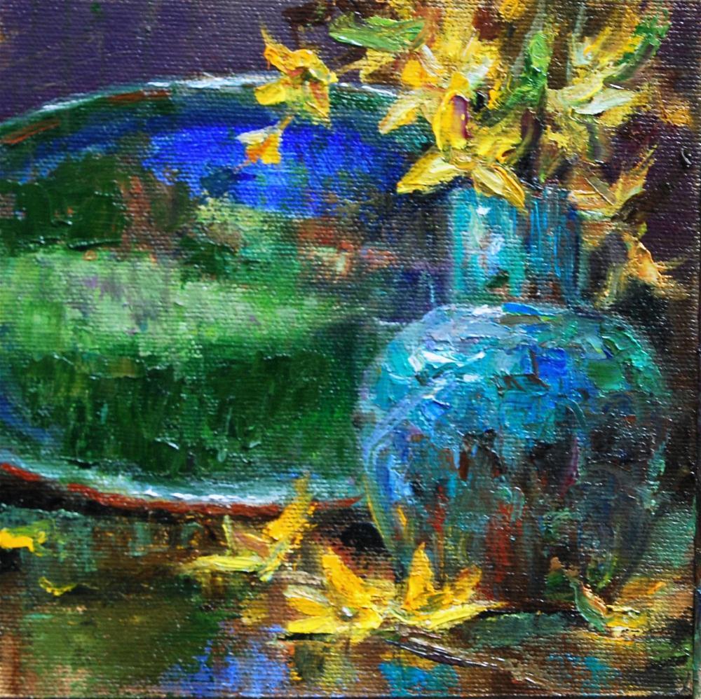 """""""Mother's Pottery # 9"""" original fine art by Julie Ford Oliver"""