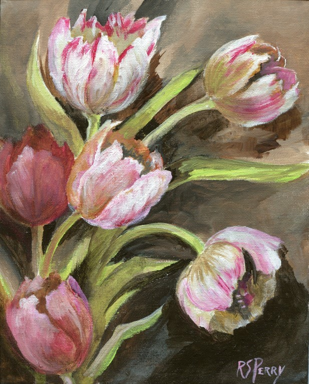 """April tulips"" original fine art by R. S. Perry"