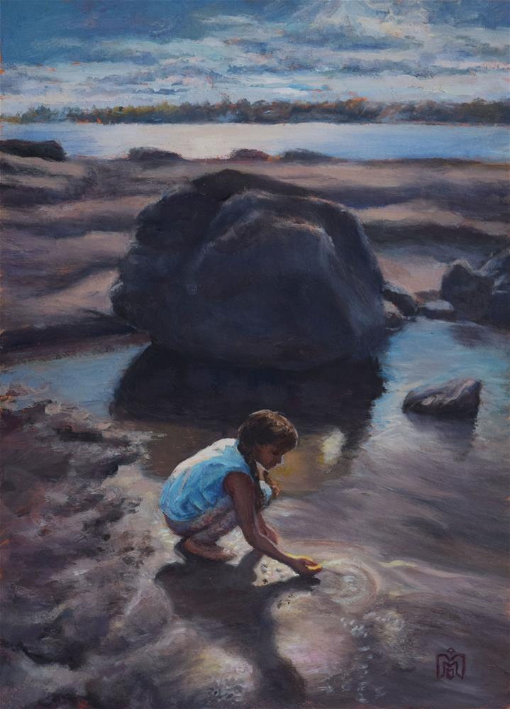 """""""Looking for Crabs"""" original fine art by Melissa  Imossi"""