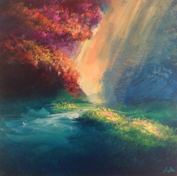 """Fresh Upon the Morning"" original fine art by David Kuhn"