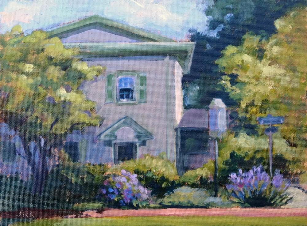 """""""Media-Upper Providence Free Library II"""" original fine art by Jeanne Bruneau"""