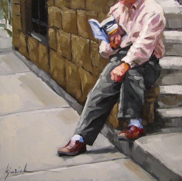 """Fully Booked"" original fine art by Karin Jurick"