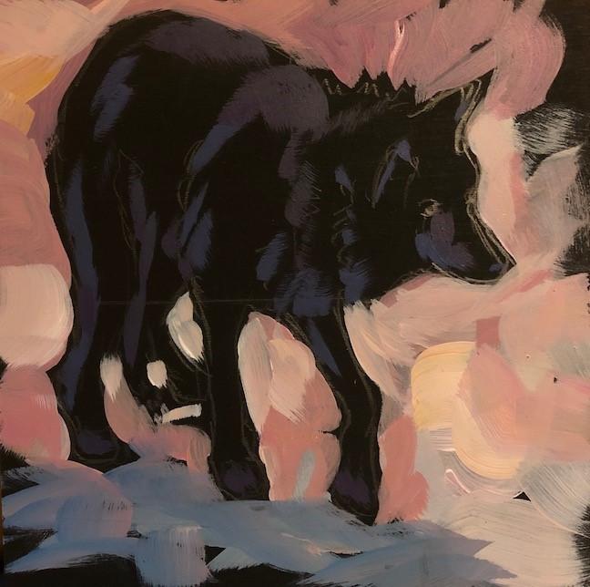 """Shy Wolf"" original fine art by Kat Corrigan"