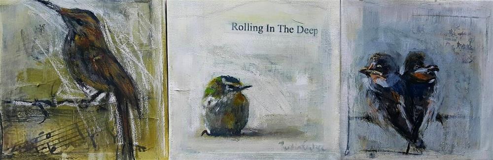 """""""More birdsong"""" original fine art by Rentia Coetzee"""