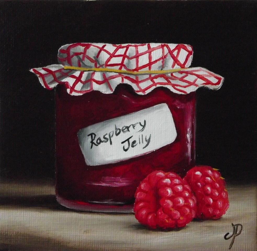 """""""Home made Raspberry Jelly"""" original fine art by Jane Palmer"""