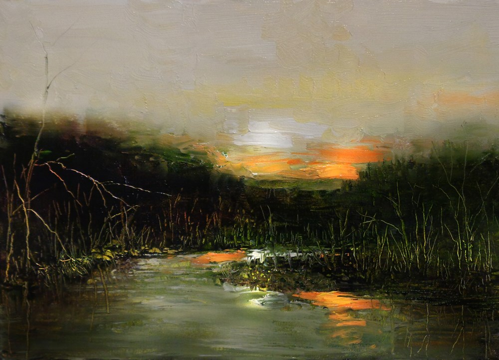 """Twilight Glow"" original fine art by Bob Kimball"