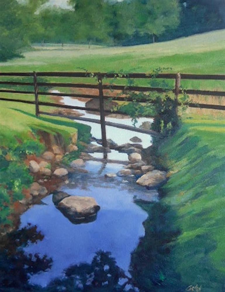 """Still Water, 16x20 Oil on Canvas Landscape Painting"" original fine art by Carmen Beecher"