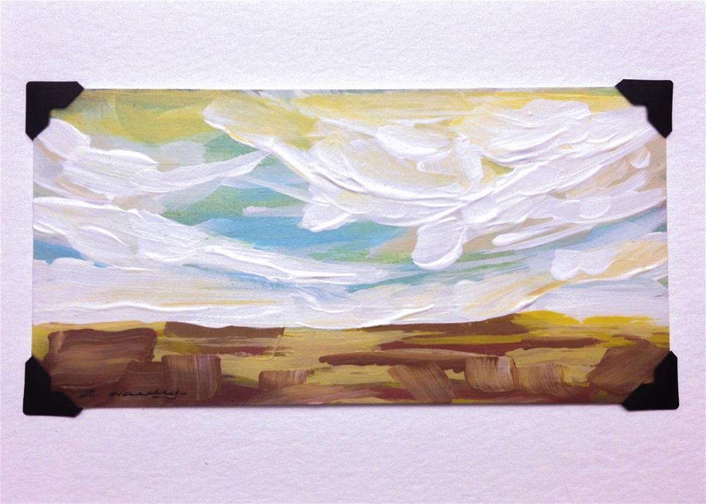 """""""landscape study #1 mounted on 5x7 White Watercolor card"""" original fine art by Angela Hardy"""