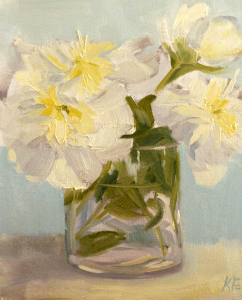 """""""Peonies"""" original fine art by Katharine Engh"""
