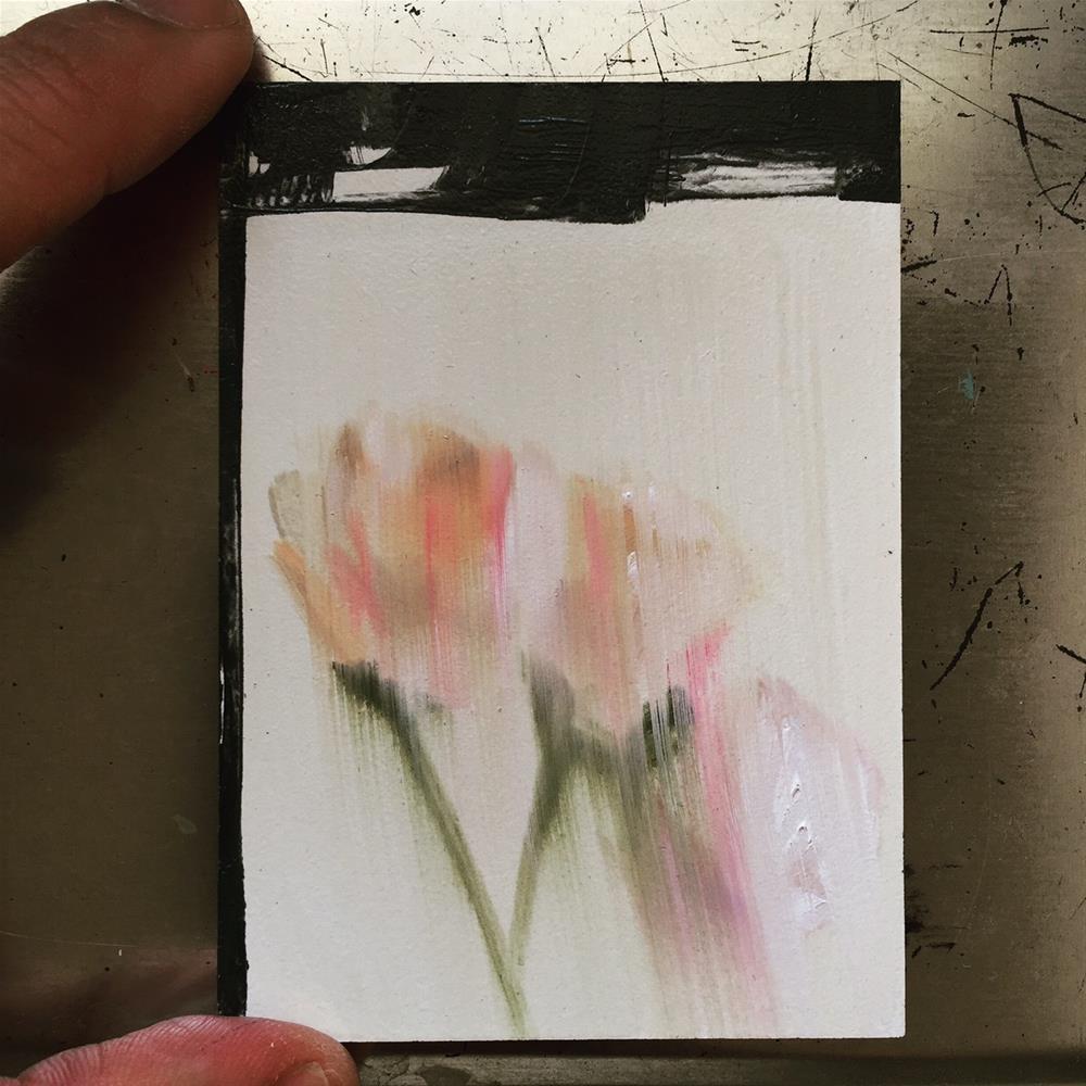 """275 Blur of Peonies"" original fine art by Jenny Doh"