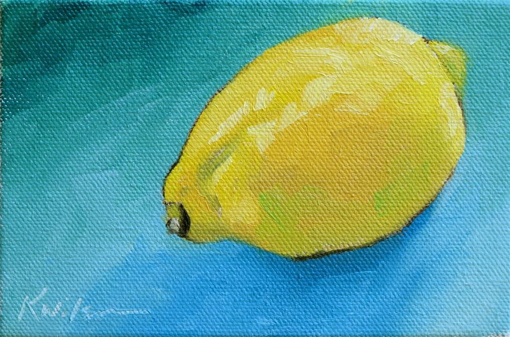 """""""Lemon Zest"""" original fine art by Katy Wilson"""