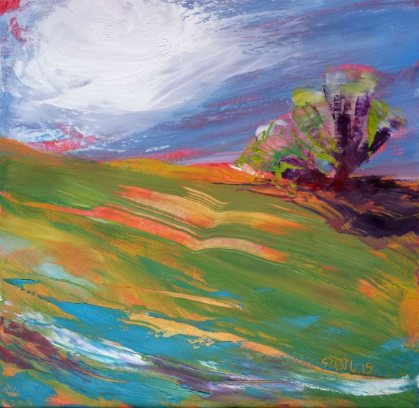 """Valley Morning 24"" original fine art by Pam Van Londen"