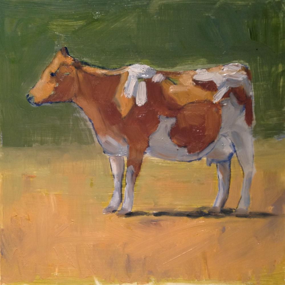 """Yes! Another Cow Painting!"" original fine art by Deborah Newman"