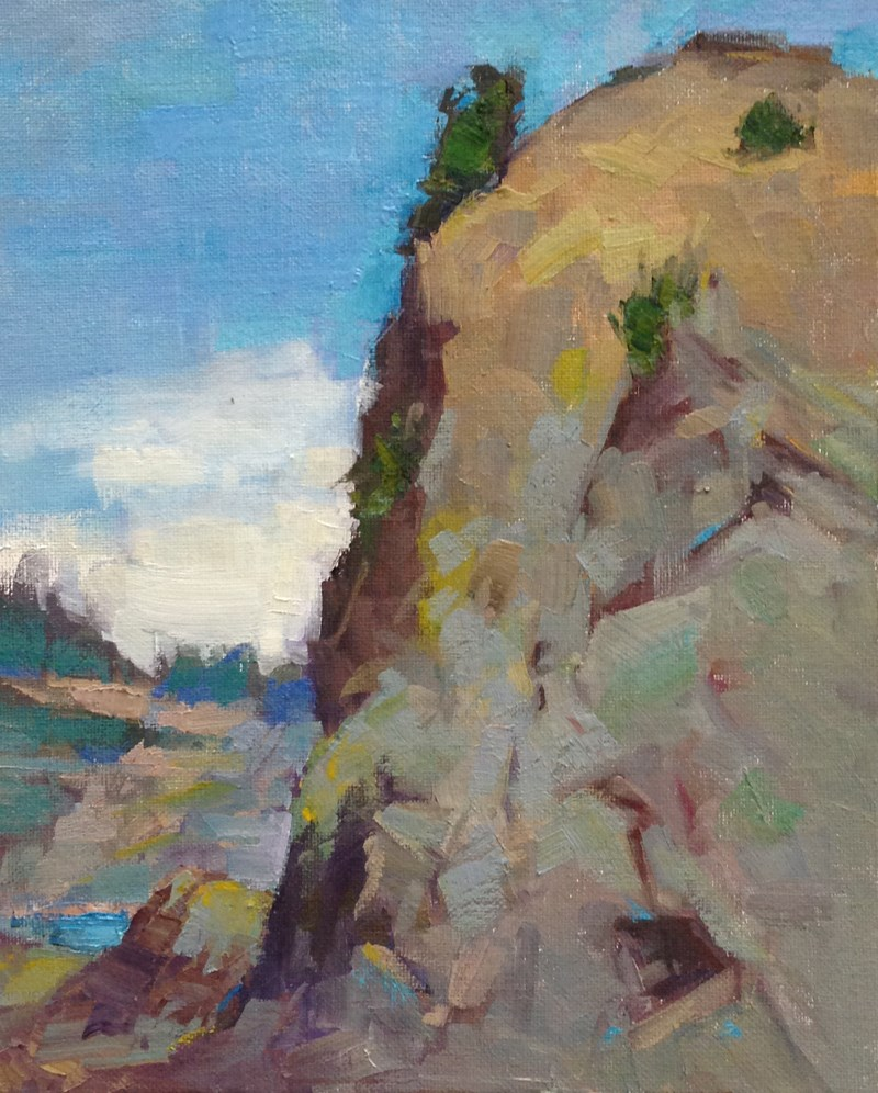 """Port Orford Harbor View"" original fine art by Patti McNutt"