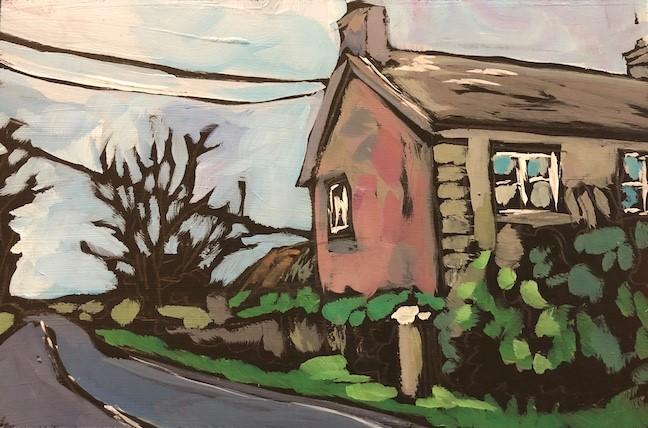 """11/10 Irish Laneside House"" original fine art by Kat Corrigan"