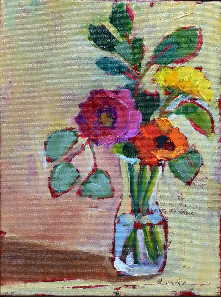 """""""Yellow, Orange and Pink Together"""" original fine art by Martha Lever"""
