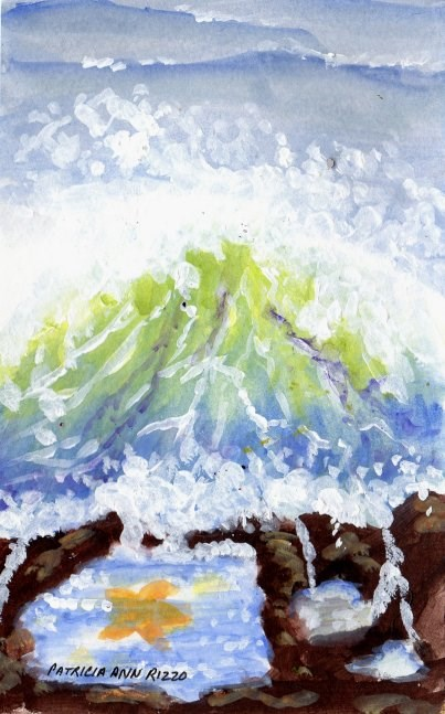 """At the Edge of the Sea"" original fine art by Patricia Ann Rizzo"