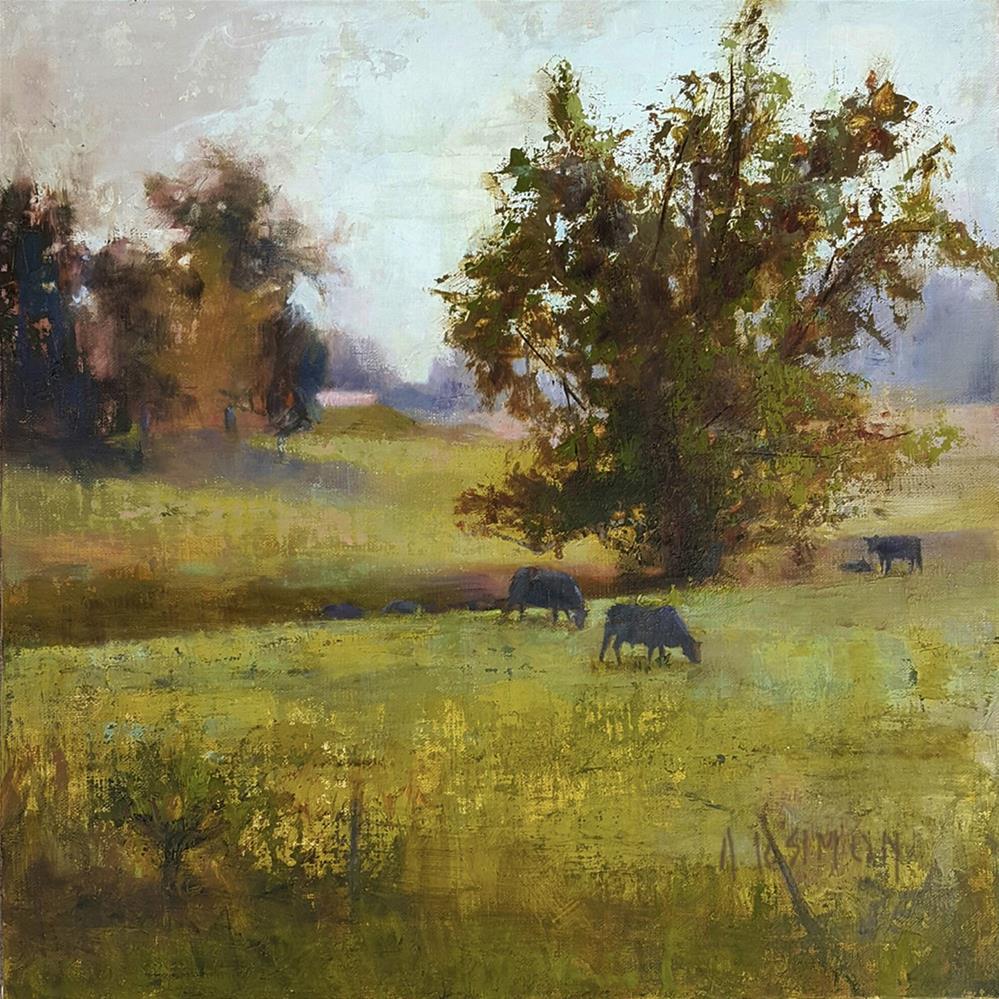 """Beyond the Fence"" original fine art by A.K. Simon"