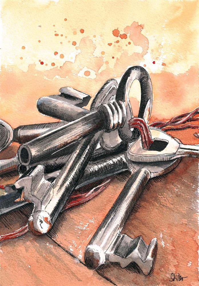"""3130 Bunch of Keys"" original fine art by Dietmar Stiller"