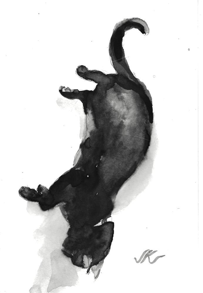 """Daily Cat 110"" original fine art by Jean Krueger"