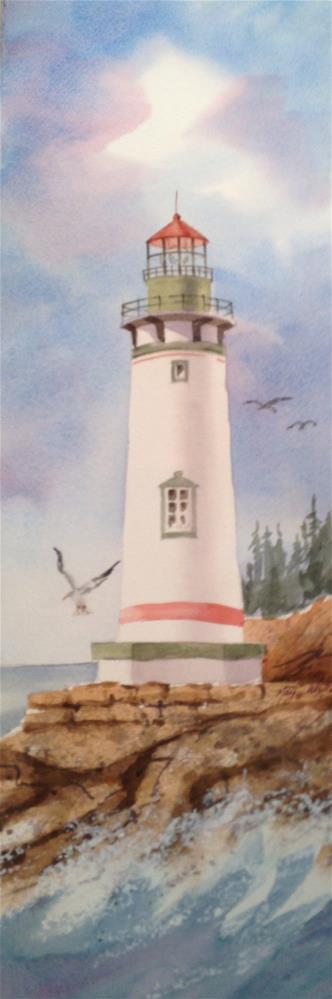 """Lighthouse"" original fine art by Margie Whittington"