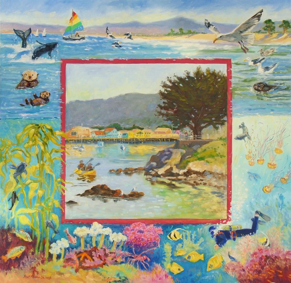 """Monterey, Beauty Above and Below"" original fine art by Rhett Regina Owings"