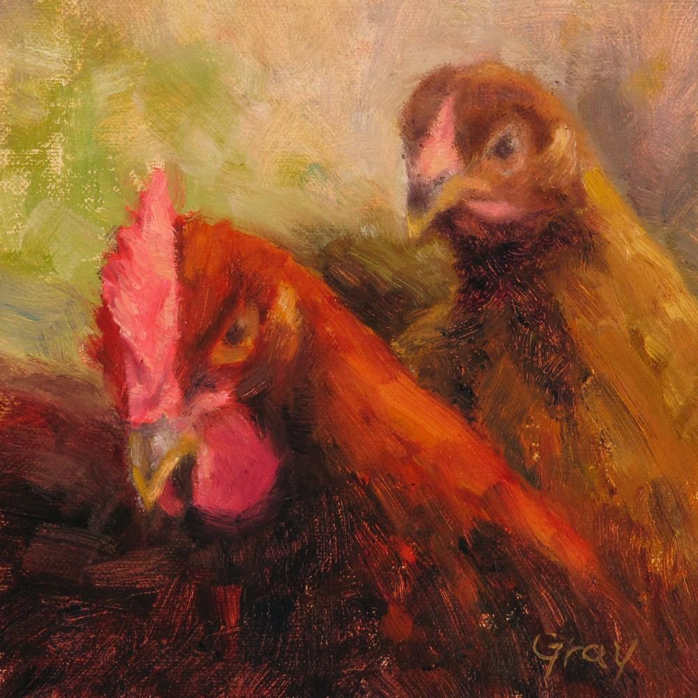 """""""Leo and Coco"""" original fine art by Naomi Gray"""