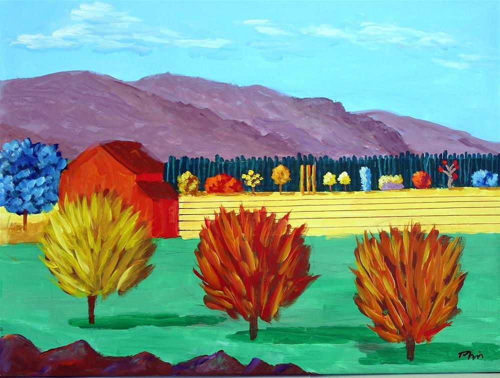 """VINEYARD"" original fine art by Bob Phillips"