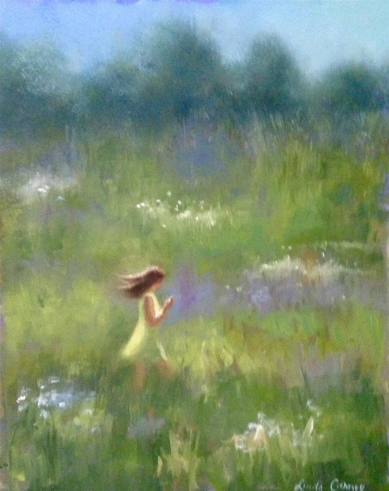 """It was serendipity!"" original fine art by Linda Carney"