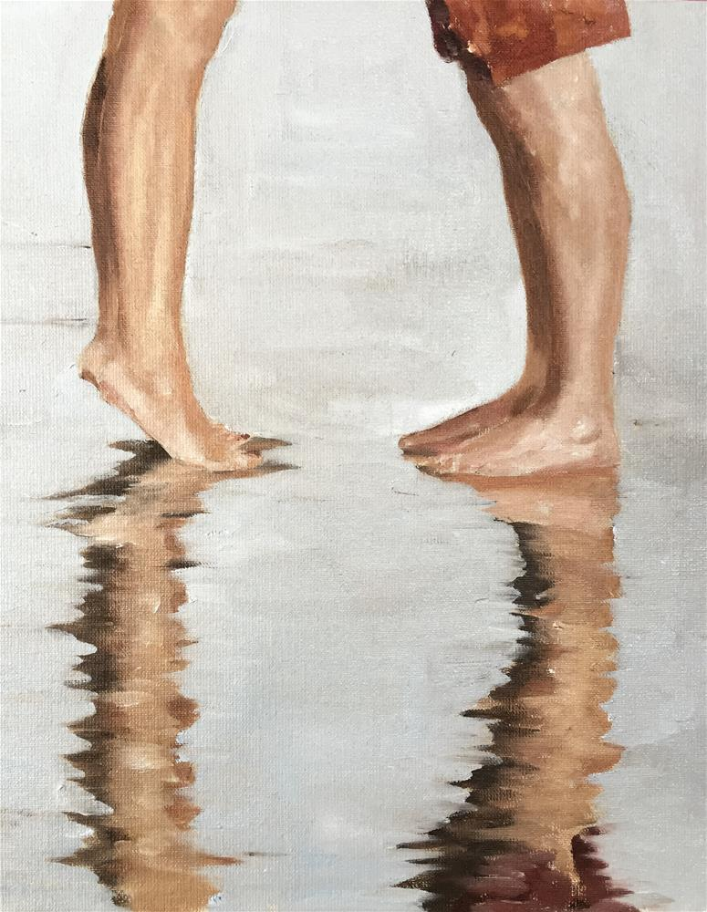 """Beach Legs"" original fine art by James Coates"