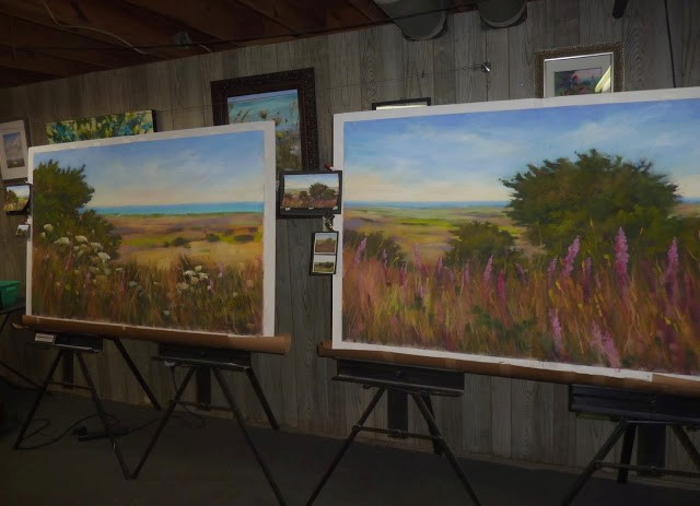 """I Painted my Largest Paintings Ever!"" original fine art by Karen Margulis"