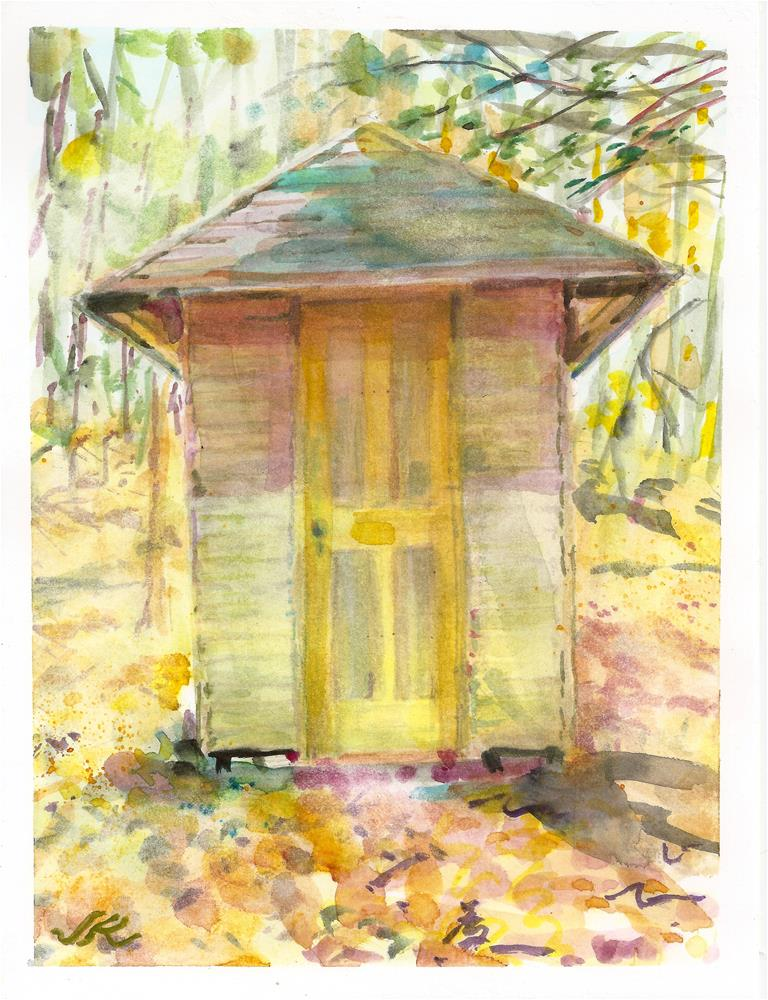 """Adirondack Folly"" original fine art by Jean Krueger"